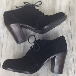 Banana Republic Black Suede Booties 8.5